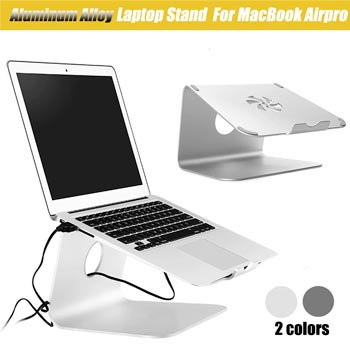 Universal Portable Silver Metal Notebook Laptop Computer Stand Desktop Holder Aluminum