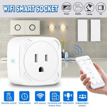 WIFI Smart Socket Switch US Plug Remote control Power Strip Timing Switch