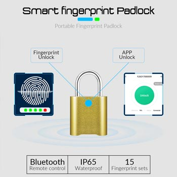 KERUI Smart Keyless Fingerprint Padlock Waterproof APP Bluetooth Fingerprint