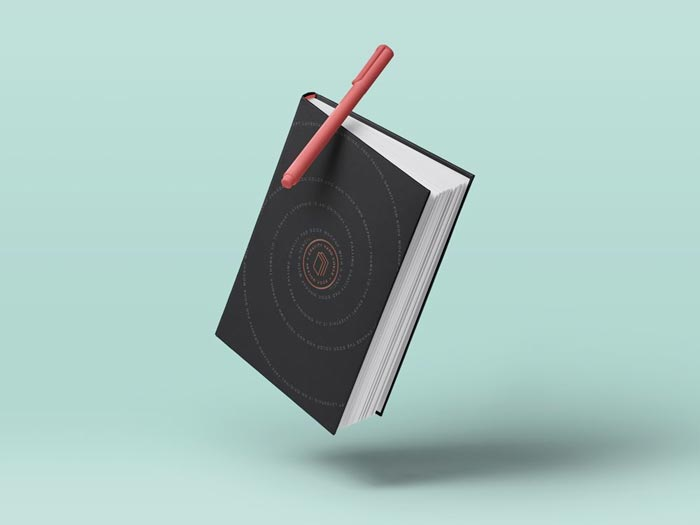 Gravity Book Mockup Hardcover