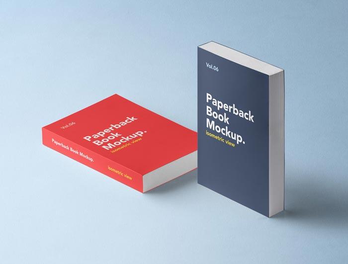 Paperback Psd Book Mockup Vol6