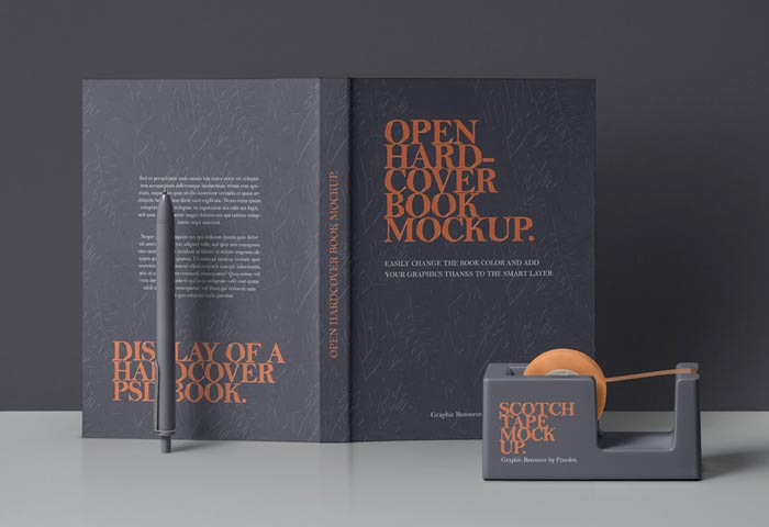 Dust Jacket Book Mockup Vol4