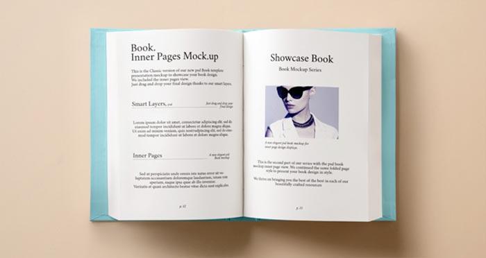 Hardback Book Inner Mockup