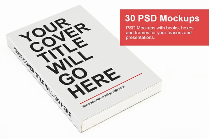 Bundle: 30 PSD Mock-ups - Books